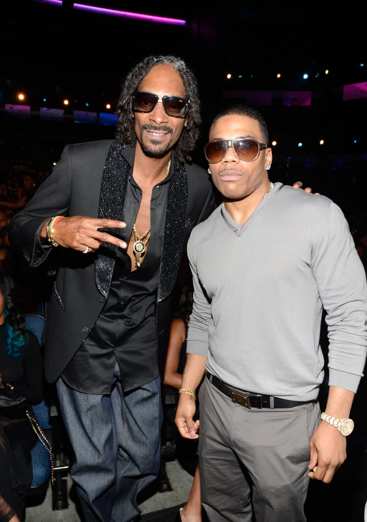 Snoop Lion posed with Nelly at the show.