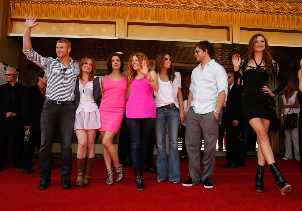 The cast got together for a group photo in 2009.
