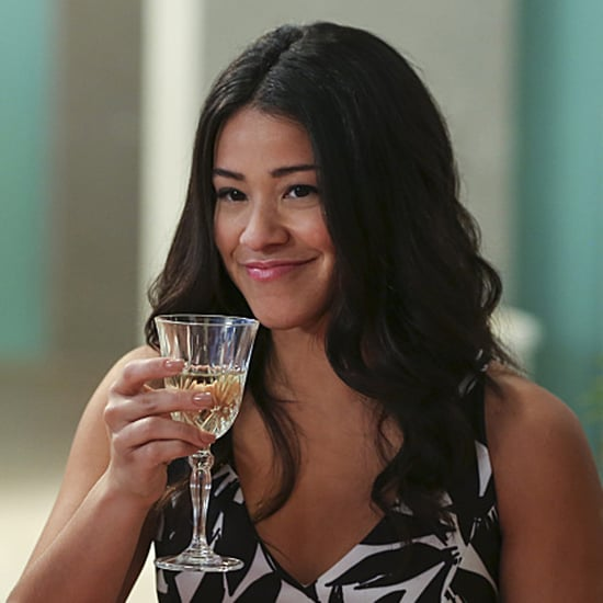 Gina Rodriguez Wearing a Blond Wig