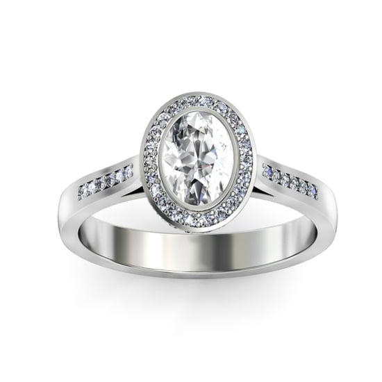 18 carat white gold Opera ring, $5,010*, 1791 Engagement Rings  * Yes, we know. It's over $5,000, but just a smidge!