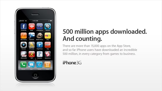 Daily Tech: Apple Hits 500 Million For Apps Downloaded