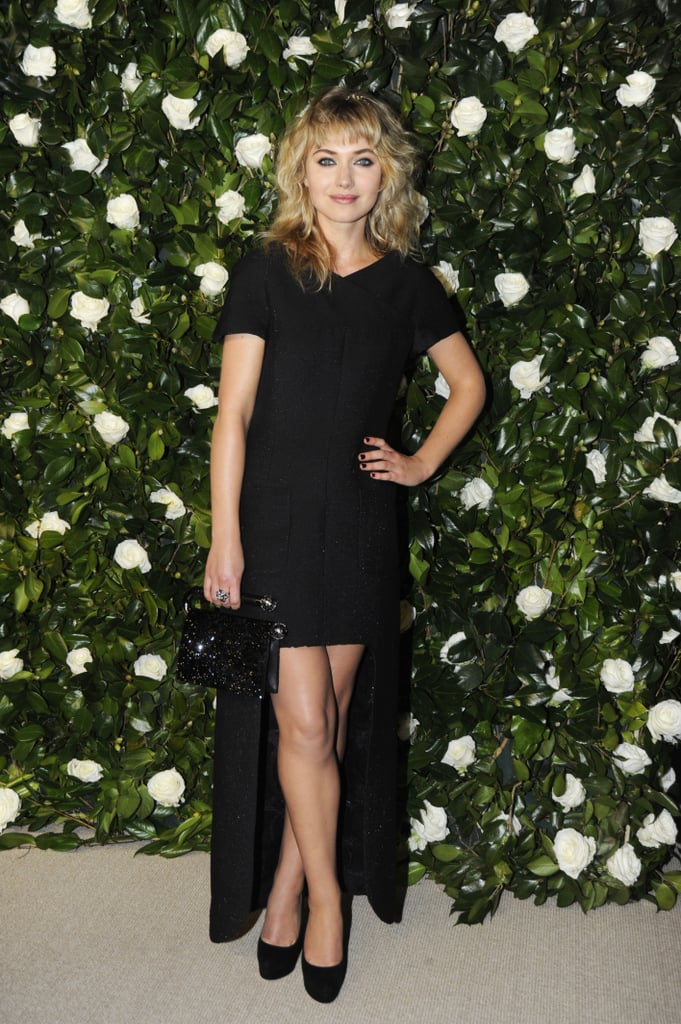 A dramatic high-low dress by Chanel was Imogen's choice for a Museum of Modern Art film benefit in 2013.