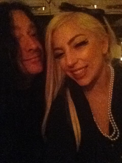 Lady Gaga caught up with a friend. Source: Twitter user ladygaga