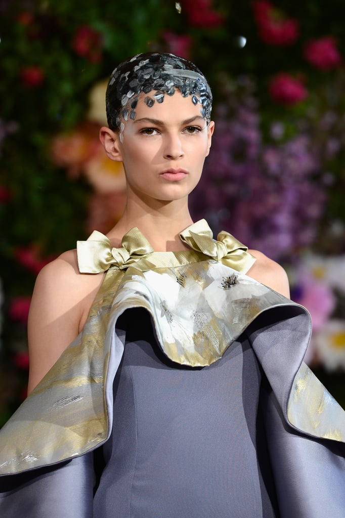 Gushing over sweet bows and bold blooms at the Alexis Mabille Haute Couture Fall 2013 show.