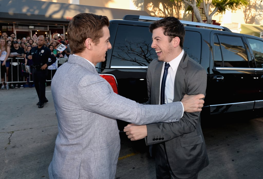 Dave Franco and Christopher Mintz-Plasse greeted each other excitedly.