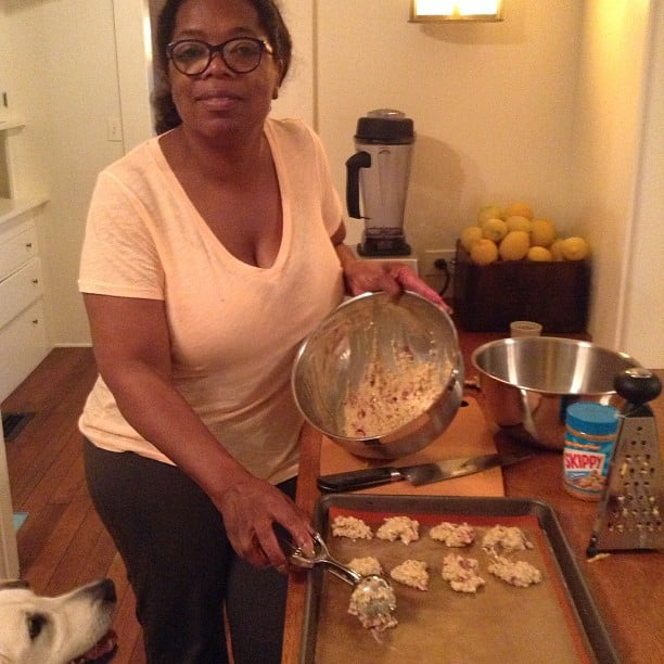 Oprah cooked up homemade dog treats for her pups. Source: Instagram user oprah
