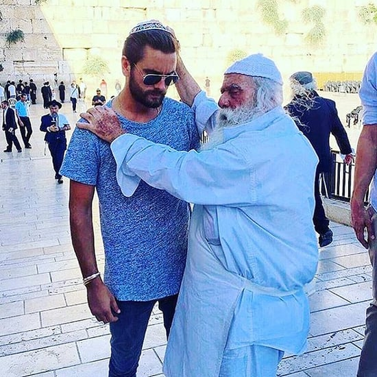 Scott Disick Gets Blessed by a Rabbi at Jerusalem's Western Wall