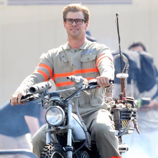 Chris Hemsworth on Ghostbusters Set