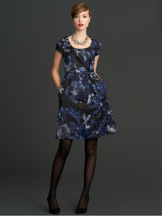 The perfect holiday party dress.  Mad Men Collection Begonia Print Dress ($150)