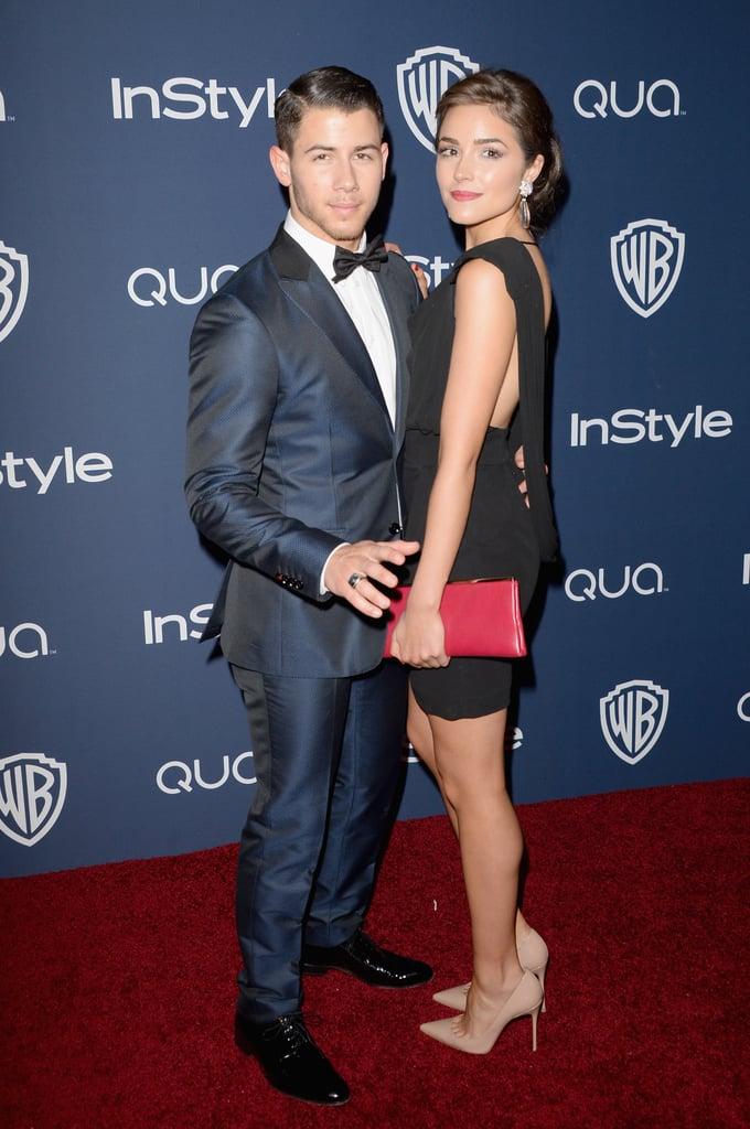 Nick Jonas and Olivia Culpo showed off glamorous looks.