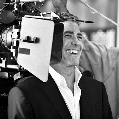 George Clooney Films A Nespresso Commercial in Milan