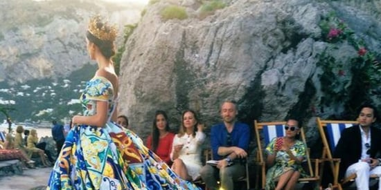 Dolce & Gabbana's Capri Fashion Show Was Even Stunning On Twitter