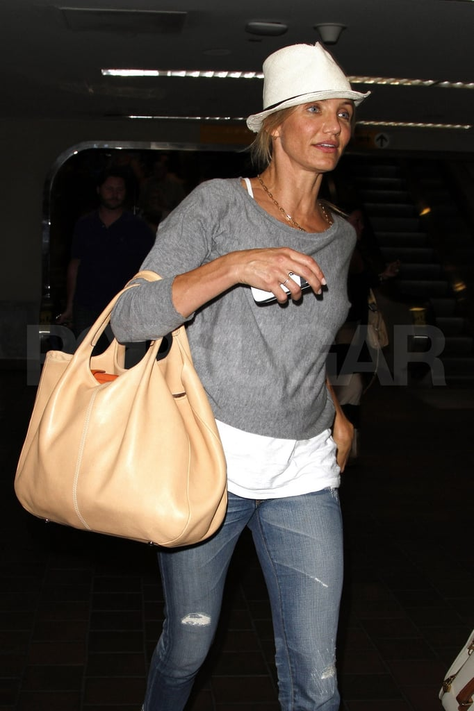 Cameron Diaz goes to New York.