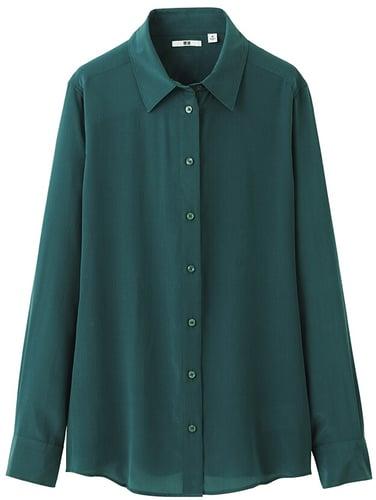 Women Silk Long Sleeve Blouse