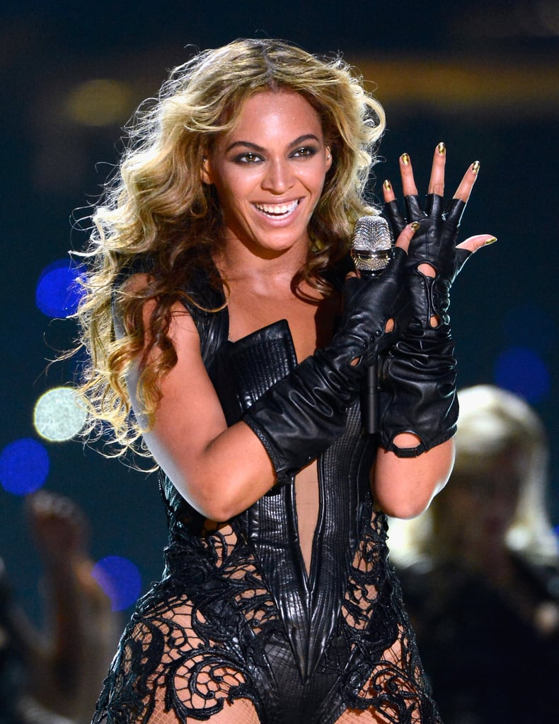 Beyoncé showed off her nail art enthusiasm again while performing at the Super Bowl earlier this year.