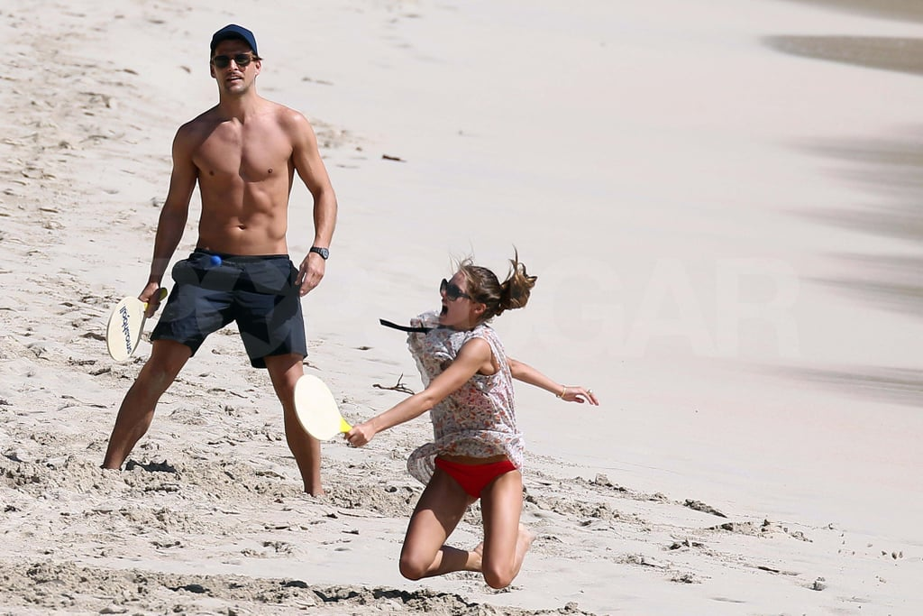 Olivia Palermo and her boyfriend in St. Barts.