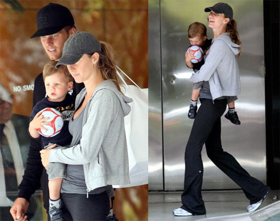 """""""Adoptive Mother"""" Gisele Shops With Her Sports Guys"""