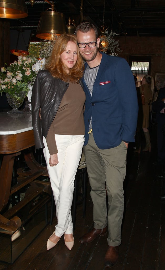 Jenny Garber and Damien Woolnough at Rebecca Vallance's Spring/Summer 2013 season launch in Sydney.