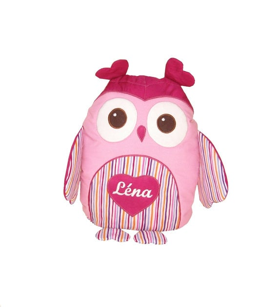 Personalized Heart Owl Pillow