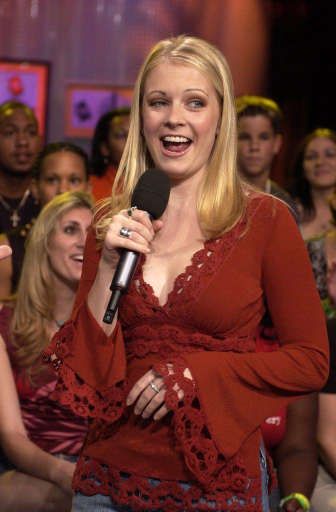 Melissa Joan Hart goofed around on TRL in 2002.