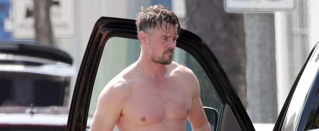 Josh Duhamel Whips Off His Shirt For a Quick Changing Session After the Gym