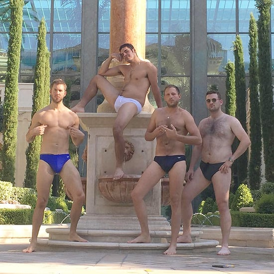 Holy Speedo! See Calvin Harris Bare (Almost) All in Photo From Post-Breakup Guys Day