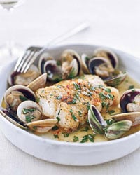 Fast & Easy Dinner: Cod With Cockles and White Wine