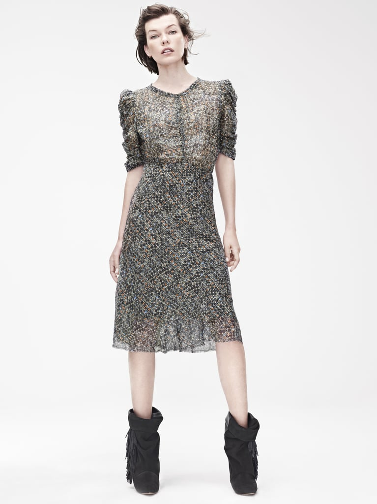 Isabel Marant for H&M Dress ($129), leather boots ($299) Photo courtesy of H&M