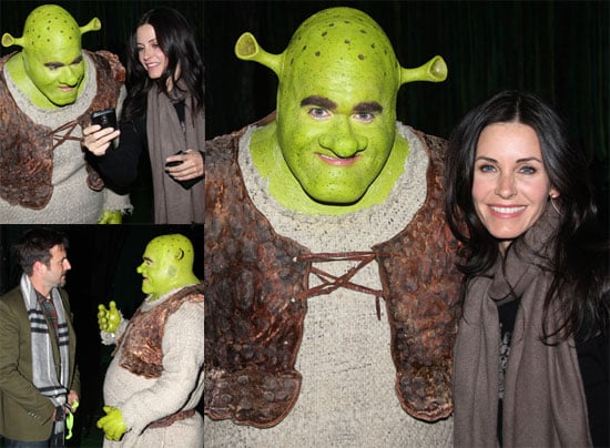 Photos of Courteney Cox and David Arquette at Shrek on Broadway
