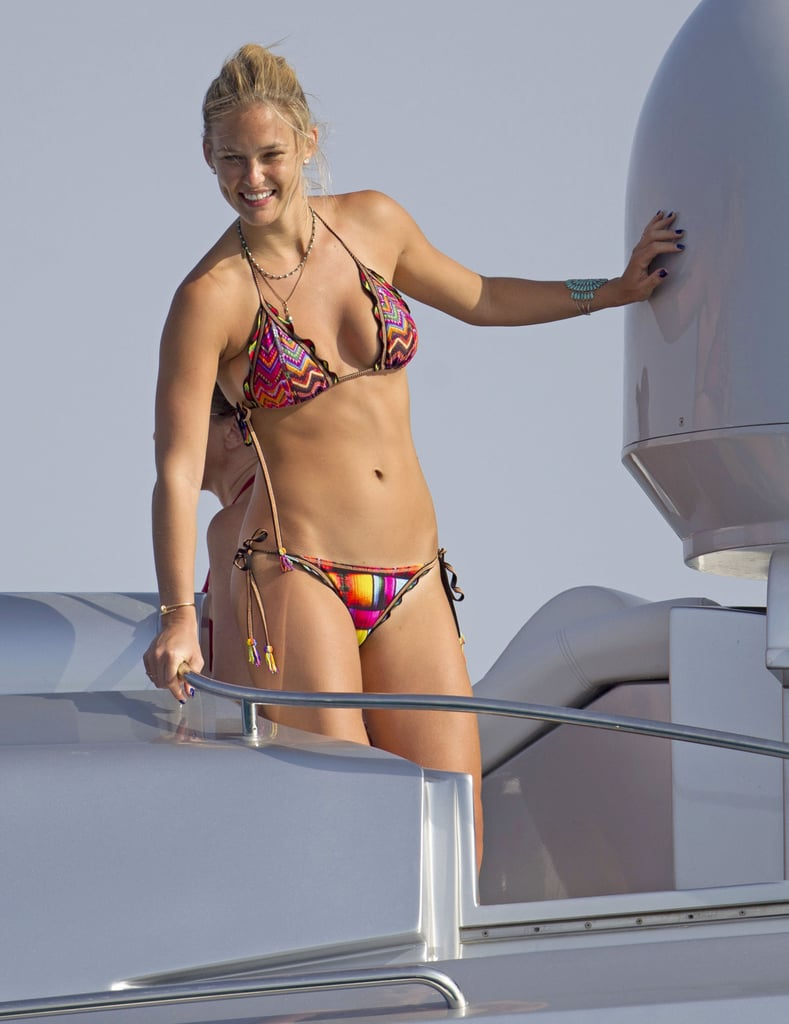 In July, Bar Refaeli put her bikini body on display during a trip to Formentera.