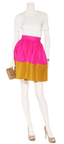 Wear something with powerful pop! Rich organza material makes this colorblock skirt both enchanting and youthful. Roksanda Ilincic Hot Pink and Mustard Silk Organza Full Skirt  ($830)