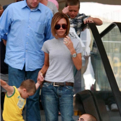 Victoria and Cruz Beckham Shopping in LA