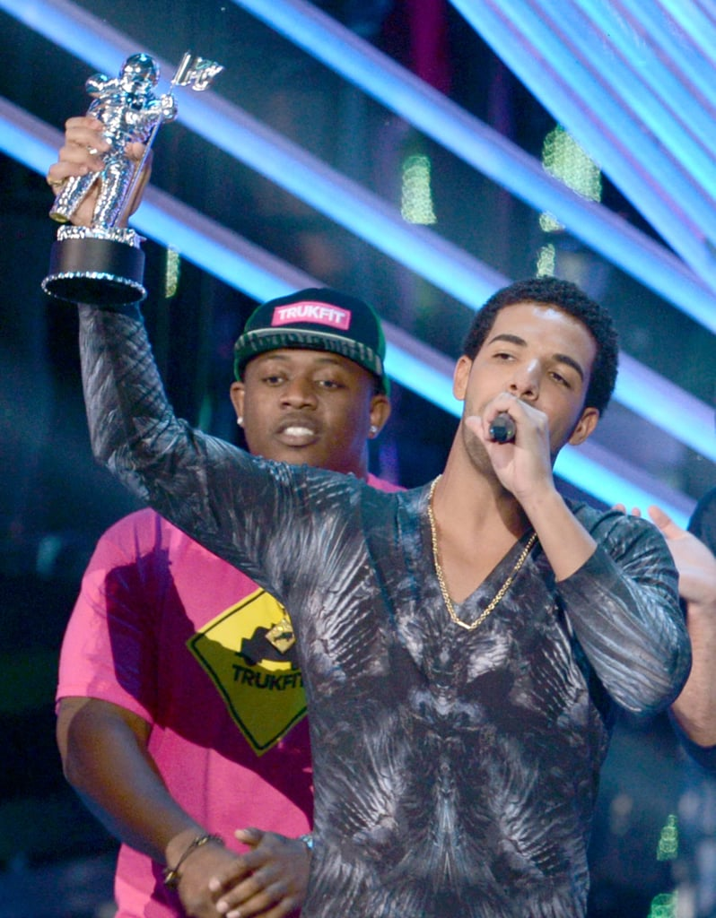 Drake picked up a Moonman at the VMAs.