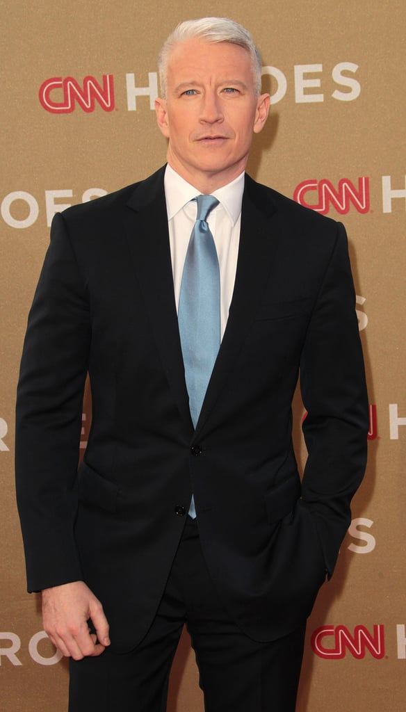 Anderson Cooper arrived at CNN's all-star tribute.