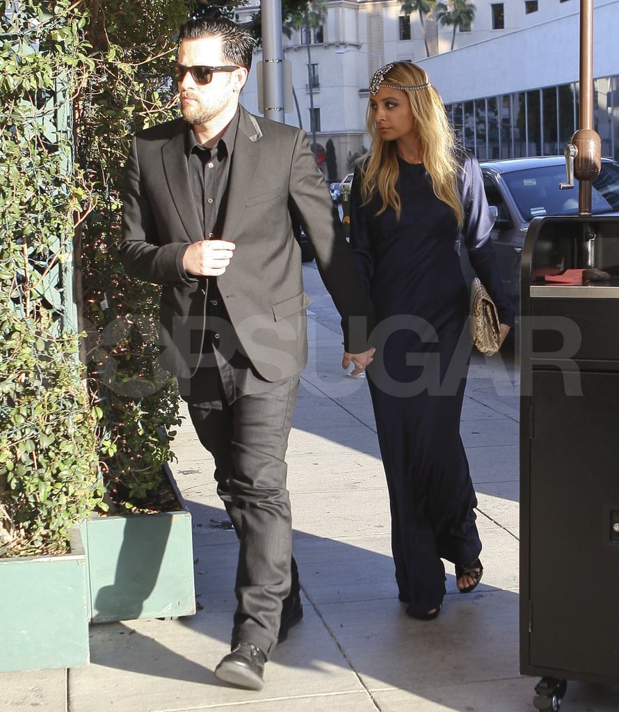 Nicole Richie and Joel Madden dressed up in LA.