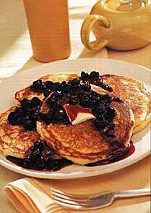 Buttermilk Pancakes With Blueberry Compote
