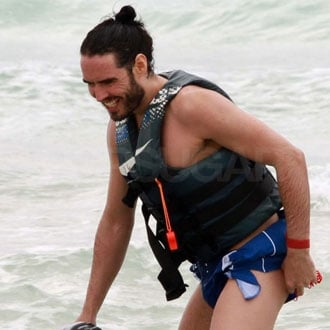 Russell Brand Pictures on a Jet Ski