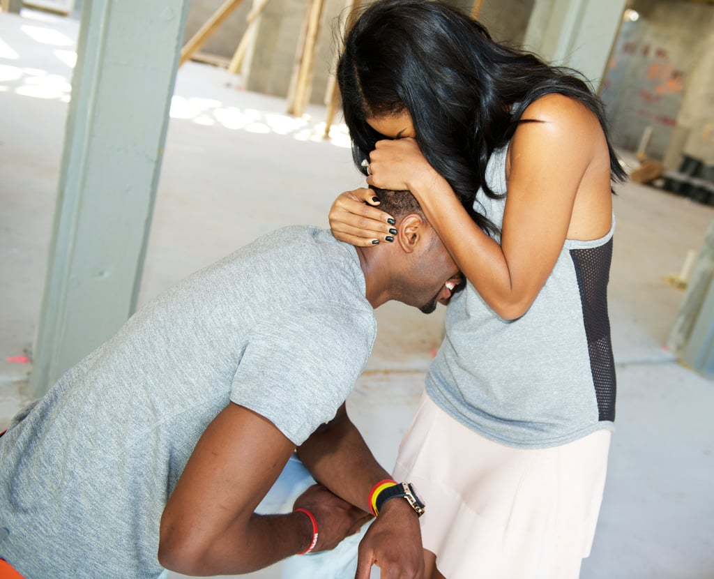 Gabrielle couldn't contain her excitement after Dwyane proposed to her in Miami in December 2013.