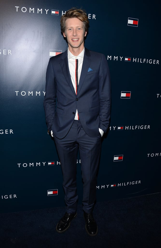 Gabriel Mann went for a simple suit.