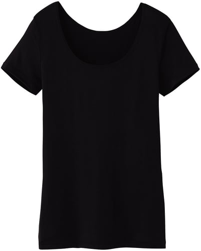 Women Heattech Scoop Neck T-Shirt (Short Sleeve)