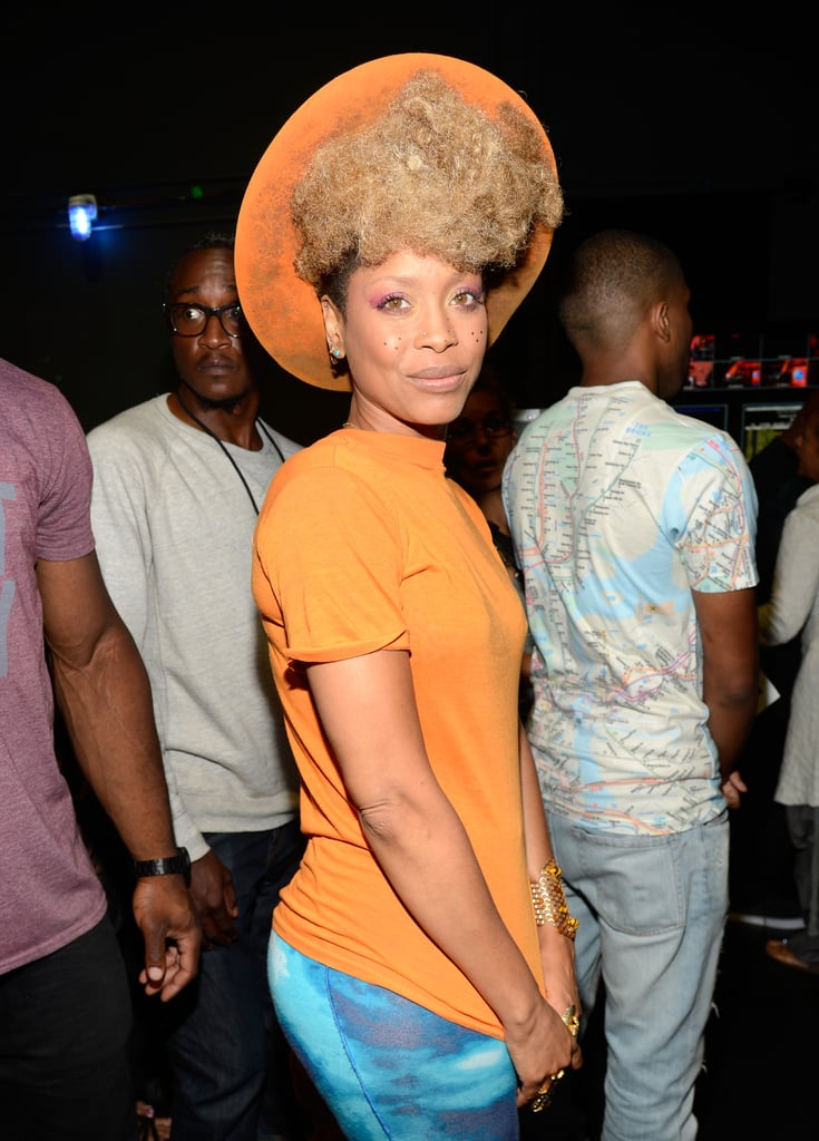 Erykah Badu wore an orange hat.