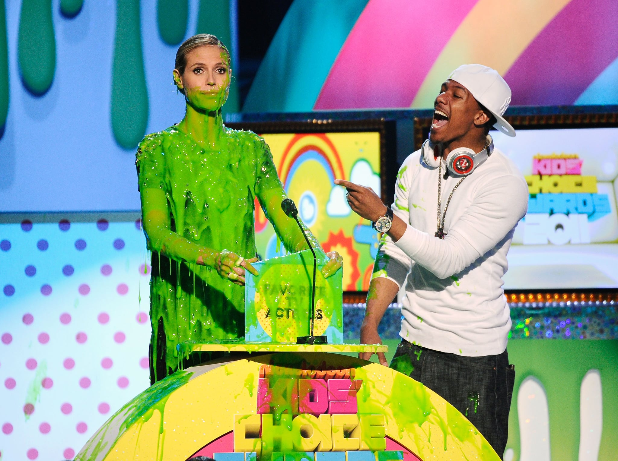 Nick Cannon had a serious laugh when Heidi Klum got slimed in 2011.