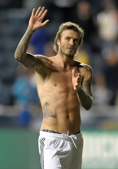 Shirtless David Beckham Pictures On the Field With the LA Galaxy 2010-10-08 07:46:49