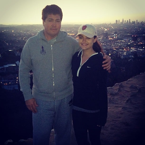 Lucy likes a view! She took an early morning hike over the city with her agent.