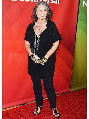 Roseanne Barr Shows Off Slim Figure at California Press Event