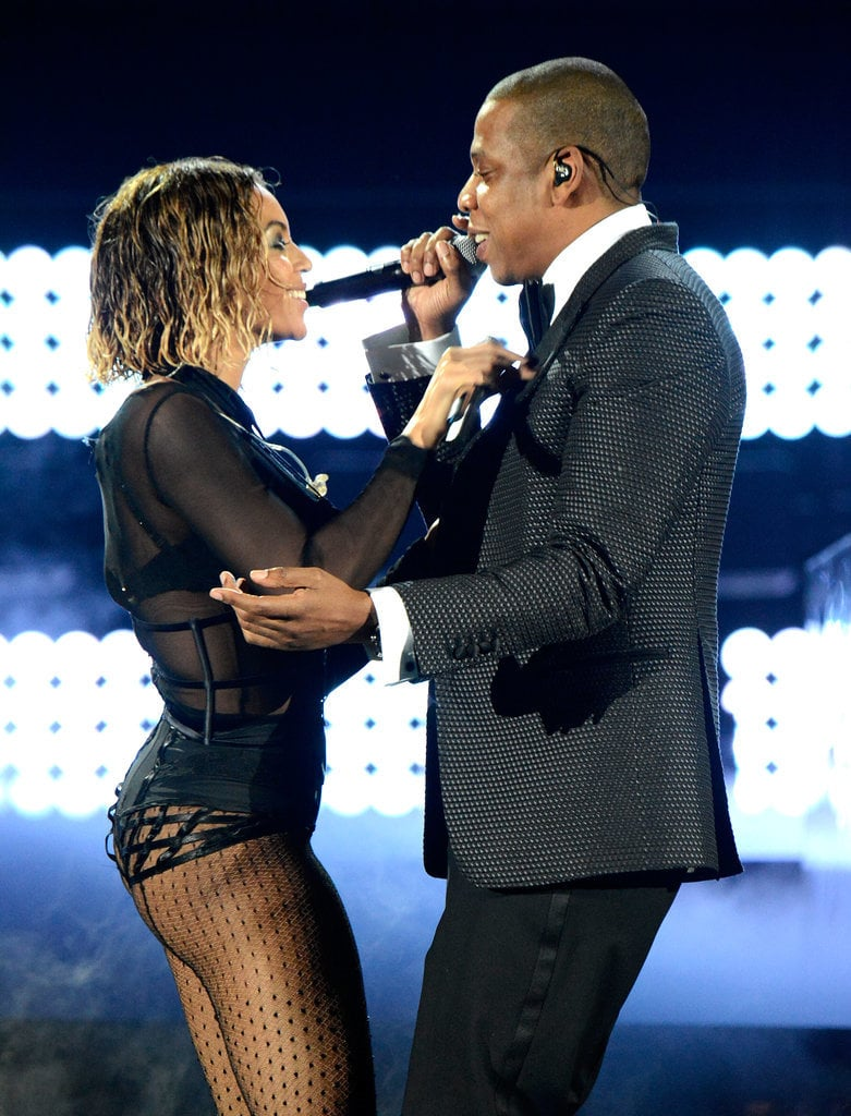 "Beyoncé and Jay Z delivered a sexy performance of ""Drunk in Love"" in 2014."