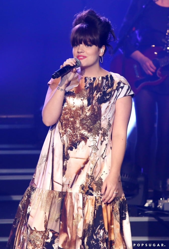 Lily Allen performed live at the Etam lingerie show in Paris in February.