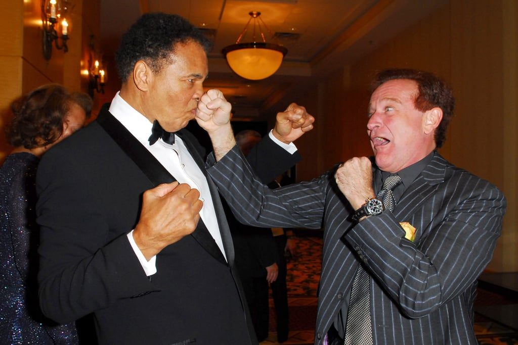 Robin staged a play fight with boxing legend Muhammad Ali at a Celebrity Fight Night event in Phoenix back in March 2006.