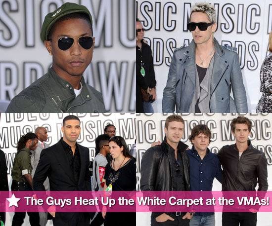 Pictures of Justin Timberlake, Usher, Justin Bieber, Drake, and More on the White Carpet at the 2010 VMAs