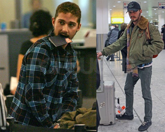 Shia LaBeouf Meets Paul McCartney at the Airport